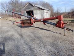 """Peck 1004 10"""" X 61' Auger W/Swing Away Hopper"""