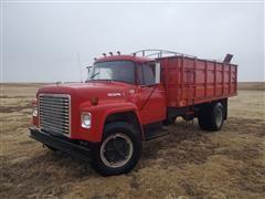 1974 International 1600 LoadStar S/A Grain Truck W/Knapheide Box