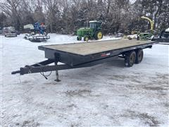Shop Built 8x20 Bumper Hitch T/A Flatbed Trailer