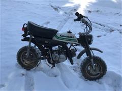 Kawasaki KV75 Mini-bike Motorcycle (INOPERABLE)