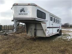 1998 Sundowner E 4-horse Slant Gooseneck Livestock Trailer