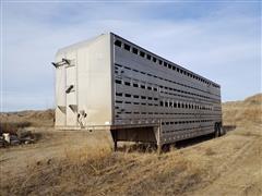 1978 Barrett T/A Livestock Trailer
