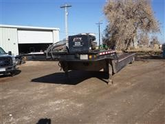 1995 Trail-Eze DHT7048 T/A Fixed Neck Lowboy W/Hydraulic Tail Section