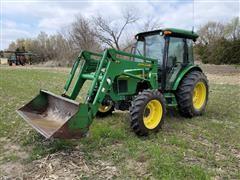 2002 John Deere 5420 MFWD Tractor W/541 Loader