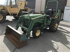 John Deere 855 Compact Utility Tractor W/Attachments