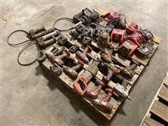 Milwaukee & Ingersoll Rand Power Tools W/Batteries