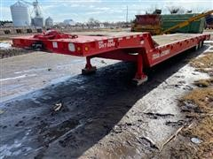 2000 Trail-Eze DHT8048 48' T/A Fixed Neck Lowboy W/Hyd Tail Section
