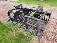 2021 Mid-State Rock/Brush Grapple Skid Steer Attachment
