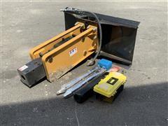 Agrotk 680 Hydraulic Rock Breaker/Hammer Skid Steer Attachment