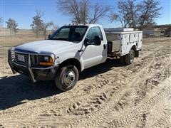 2000 Ford F350 Super Duty 4x4 Pickup W/Service Bed