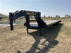 2014 Big Tex 22GN-30BK+5 T/A Dual Wheel G/N Flatbed Trailer