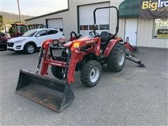 2016 Mahindra 2538 4WD Compact Utility Tractor W/Loader & Backhoe