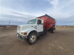 2001 International 4900 S/A Mixer Truck W/ Oswalt D575 Box
