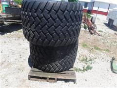 Michelin Cargo X Bib 710/45R22.5 Floater Tires On 10-Bolt Stud Pilot Wheels