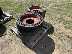 Bobcat Solid Rubber 12-16.5 Tires & Rims