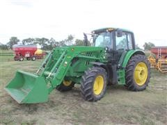 2014 John Deere 6115M MFWD Tractor W/Loader