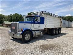 1998 Peterbilt 378 Tri/A Silage Truck W/Hoist