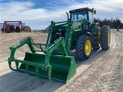 1997 John Deere 7810 MFWD Tractor w/ H380 Loader & Grapple