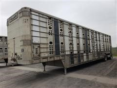 2006 Wilson PSDCL-402P 53' T/A Aluminum Livestock Trailer