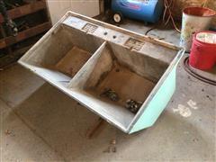 Cement Dual Basin Sink