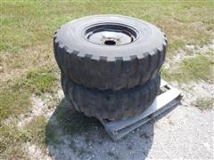 BF Goodrich Super Traction DCC 16-20 Military Tires On 6 Bolt Implement Wheels