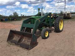 John Deere 2510 2WD Tractor W/DU-AL Loader