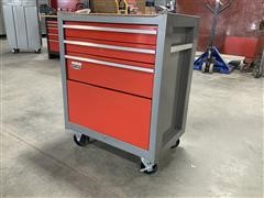 Craftsman 4-Compartment Steel Rolling Tool Cabinet Full Of Tools